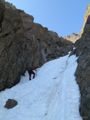 1/2 up the NE Couloir