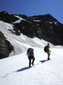 Nearing the gully that takes you to the Organ Glacier.