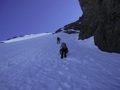 Heading up lower portion of the N. Couloir.