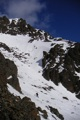 Traversing over to the Couloir