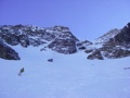 Leaving the couloir