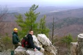 Charlie & Matt looking down into the Shenandoah Valley.