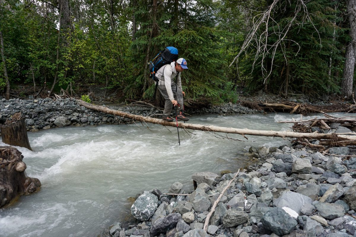 Crossing Tulchina Creek. Photo by Mike Meyers.