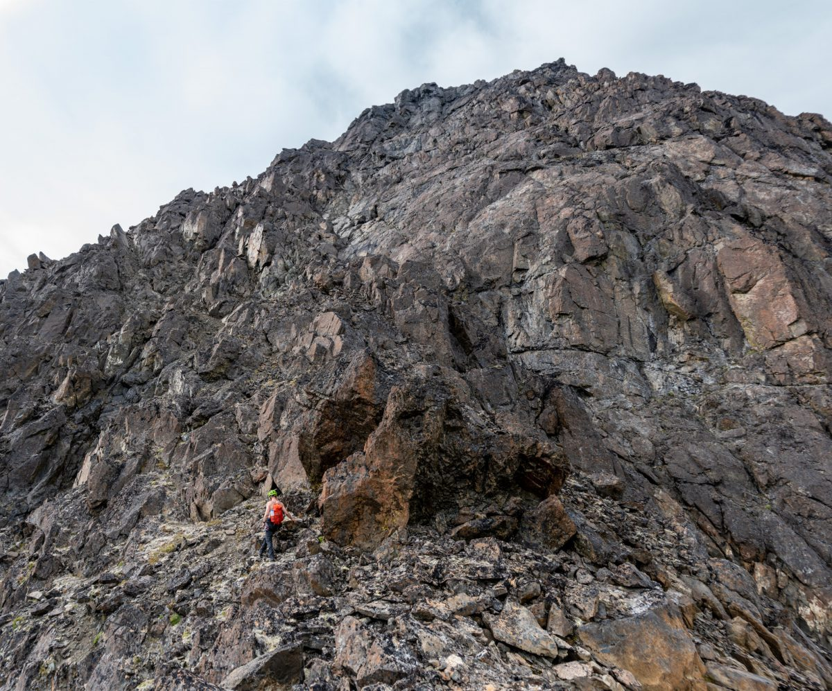 Second headwall (above the Squeeze Boulder).