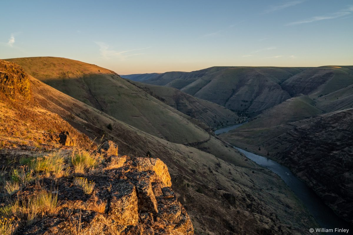 Above the John Day river at sunset.