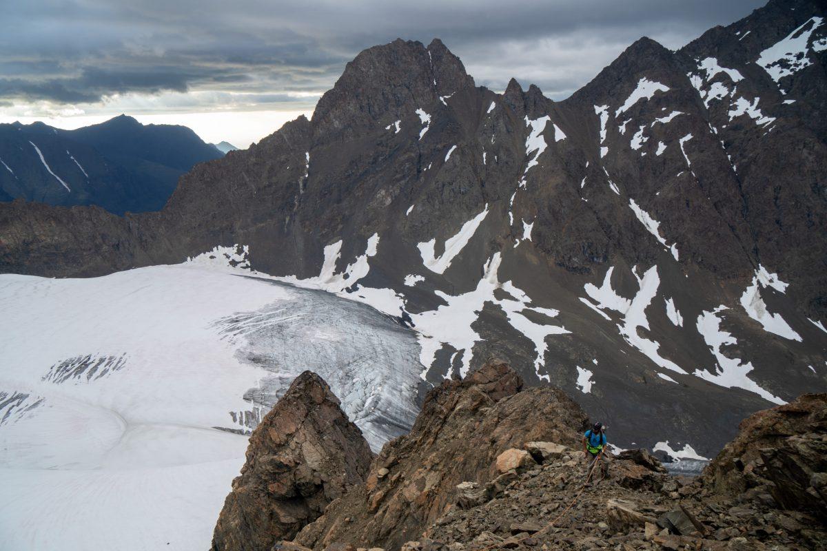 Upper summit ridge.