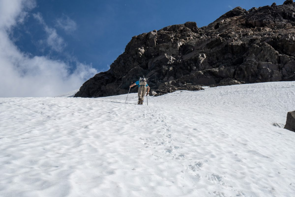 Upper snow fields / glacier remnants.