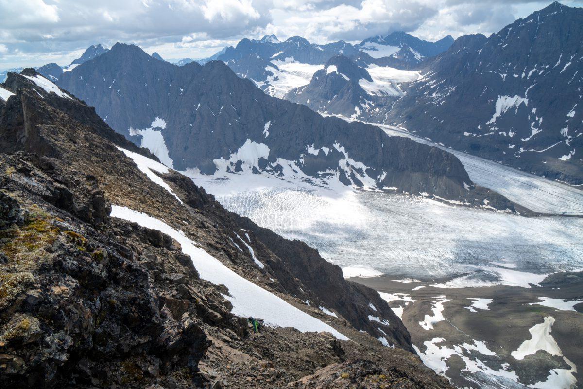 Gerrit nearing the summit.