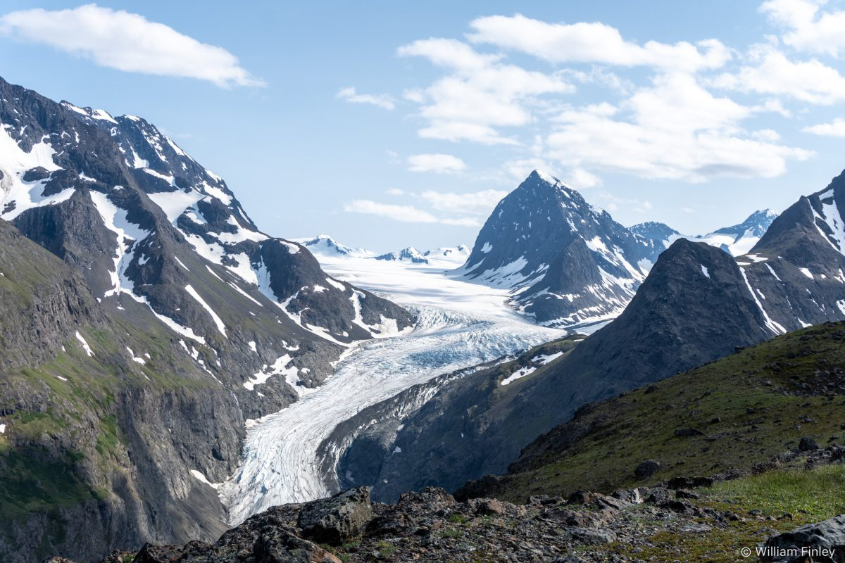 The Eklutna Glacier.
