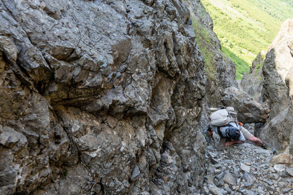 Gerrit in Dead Goat Gully.