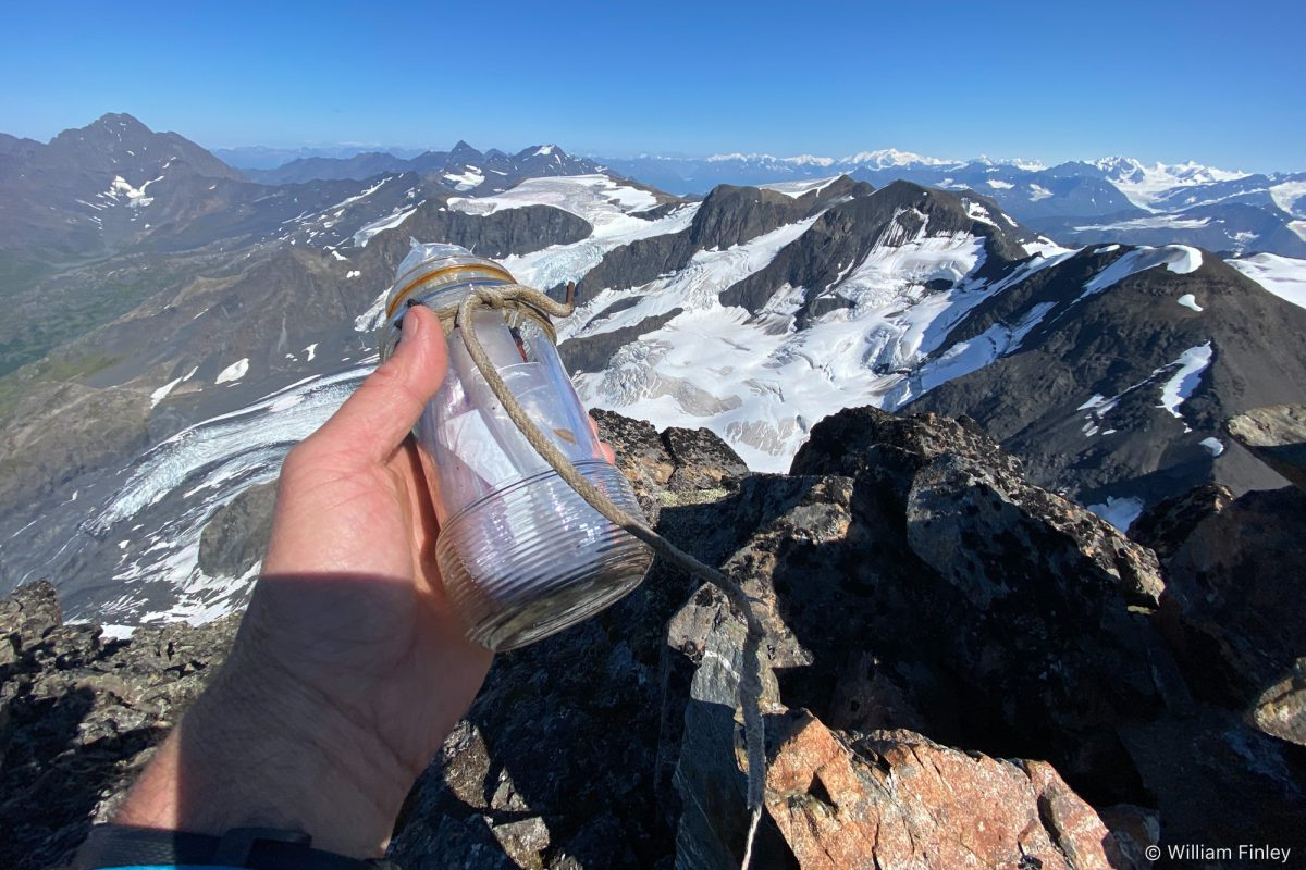 """Original summit register. I fumbled this as I picked it up and Az shouted """"Careful - that's protected by the Antiquities Act!"""""""